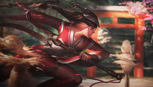 Akali Blood moon by RaphaelBauduin