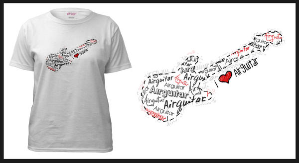 I heart Air Guitar Tee Revamp by numb-existence