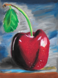 Cherry with Leaf