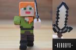 Alex - Minecraft - Clay Figure by kerobyx