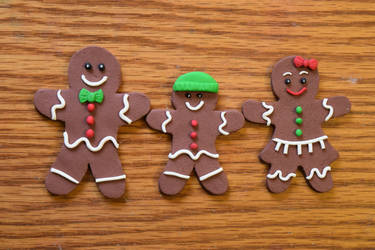 Gingerbread Family - Polymer Clay (Tutorial) by kerobyx