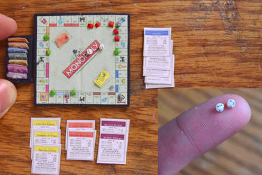 (Tutorial) Miniature Monopoly Game - Polymer Clay by kerobyx