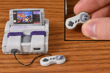 Miniature Super Nintendo System - Clay