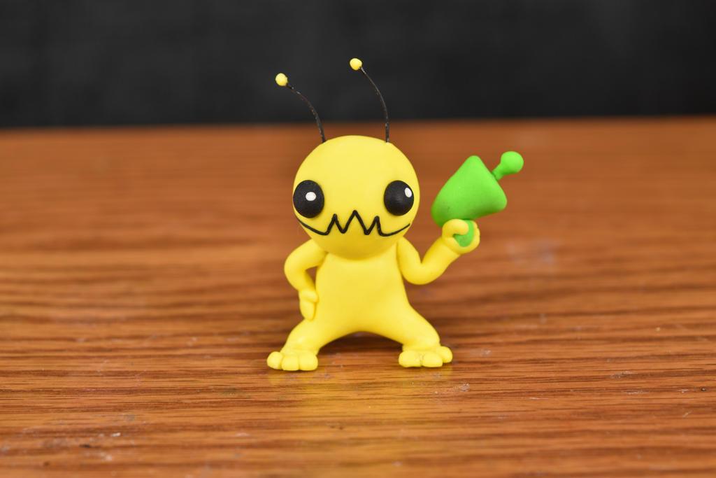 Alien Hominid - Clay Figure by kerobyx