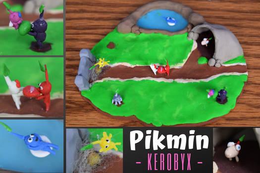 Polymer Clay Pikmin Scene