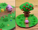 Kirby Vs. Whispy Woods - Boss Battle by kerobyx