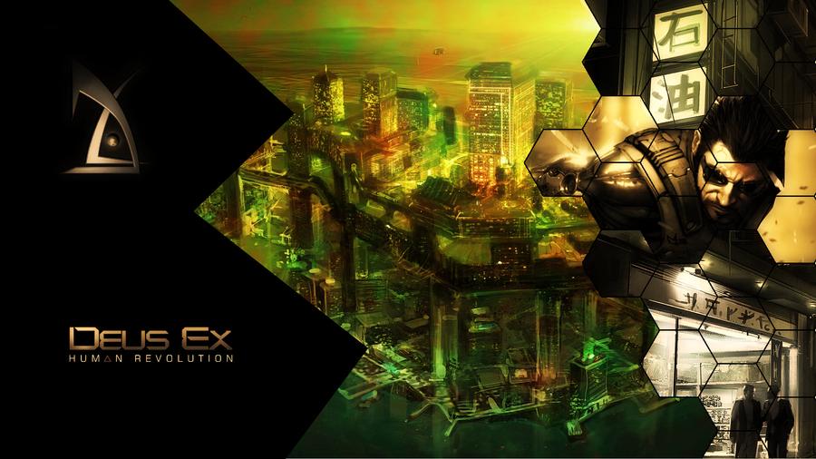 Deus Ex Wallpaper Hexagon By Nanashioni