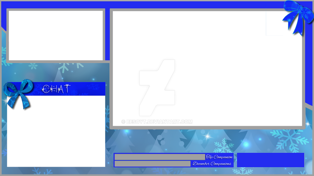 Blue Christmas Twitch Layout by BesoYT on DeviantArt