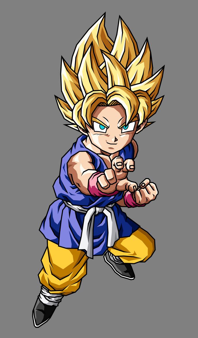 Kid Goku Ssj1 Gt By Gokussj20 On Deviantart