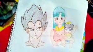 Family Pride - crayon drawing