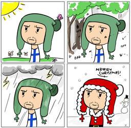 Finland's seasons by hanabixwhitexwolf