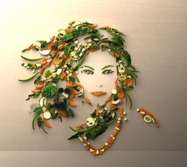 Vegetable Woman by elizom