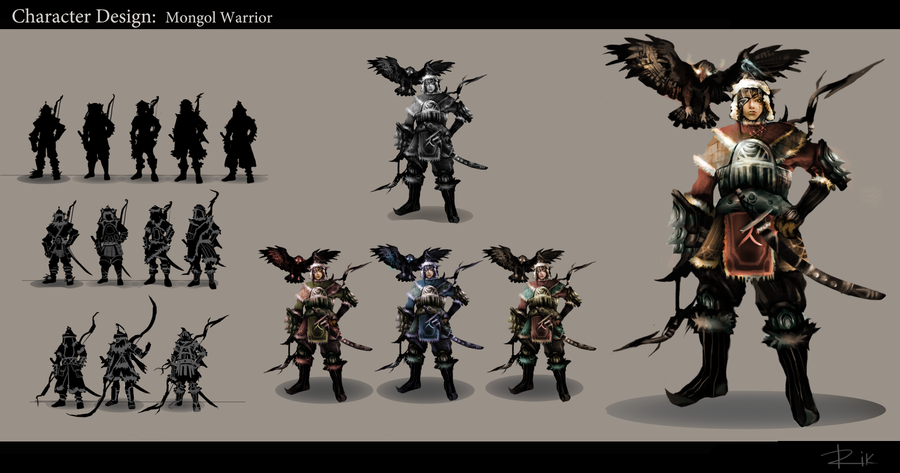Concept Trainning: Mongol Warrior by hientruong95