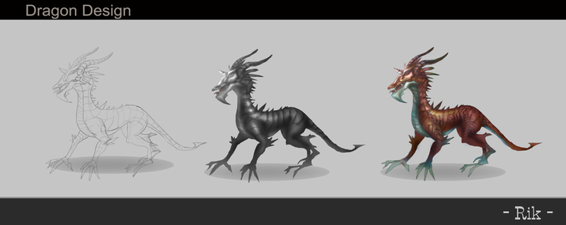 Dragon drawing process by hientruong95