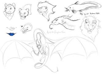 Sketches by Saphia-Xeno