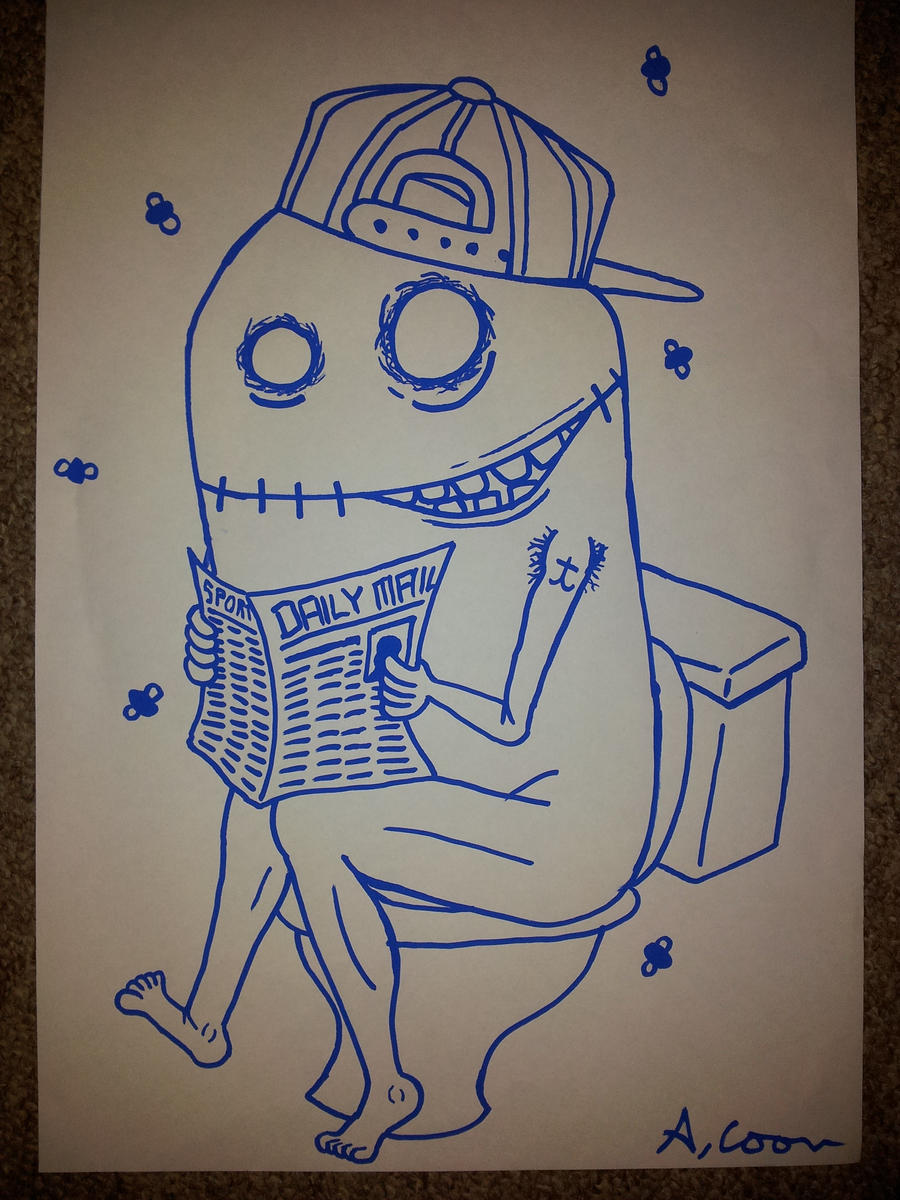 Swag Drawing Tumblr Swag monster on the toilet by