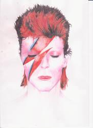 David Bowie Aladdin Sane by mushroommusic