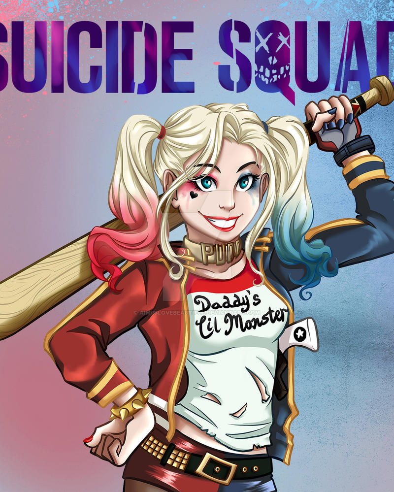 Suicide Squad 2016 Harley Quinn Cropped by AimiisLoveBeautiful
