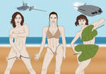 Happy Summer from: Jyn, Rey and Qi'ra