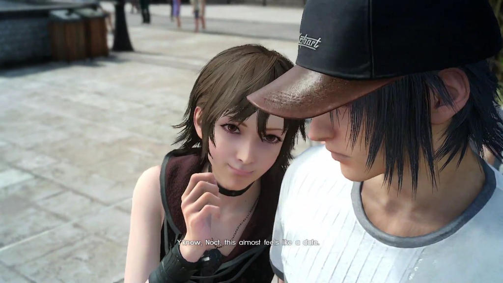 Final Fantasy XV Iris Drags Noctis into a Picture | Final