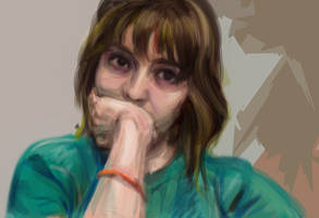 Self-portrait digital paint practice