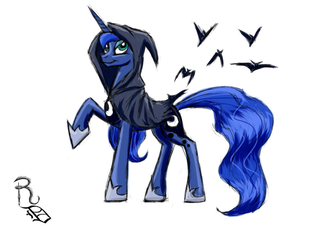 Day 05- Princess Luna by RavenousDrake