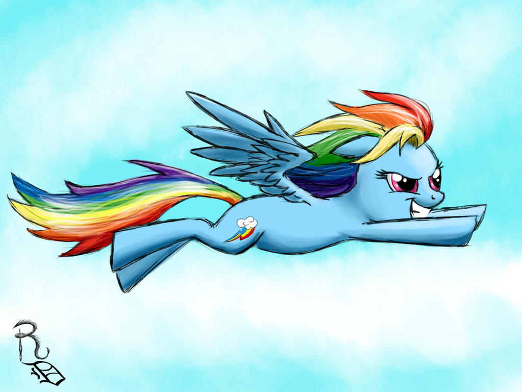 Day 20- Rainbow Dash by RavenousDrake