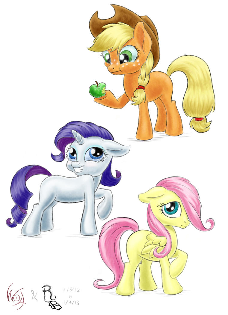 Pony Sketch Page 02 by RavenousDrake