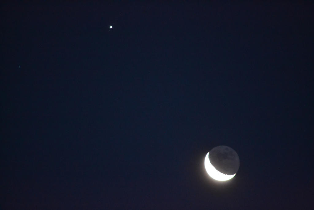 moon and Jupiter from the conjunction 11-6-15 by HikariShien