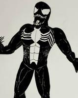Venom Ink Drawing by Mlgpirate01
