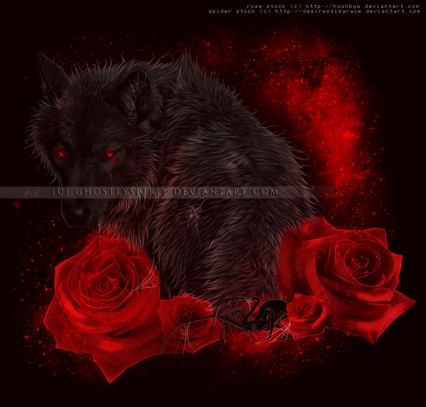 смотреть фото волк с цветком в ворту
