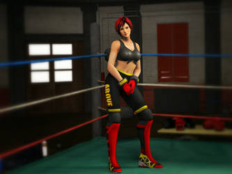 Mila Wrestling Black Recolour 1 by ThereOnceWasAMan