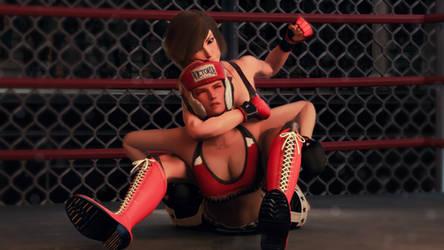 Mila vs. Reiko Part 9 by ThereOnceWasAMan