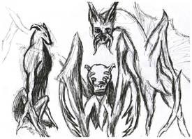 ThreeDogDragonThings by ferretwraith