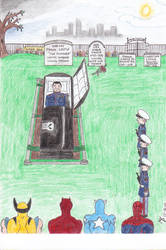 Funeral of The Punisher by MKP19