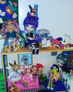 My pullip dolls having fun
