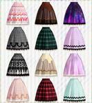 Print skirt-Natsuka dl