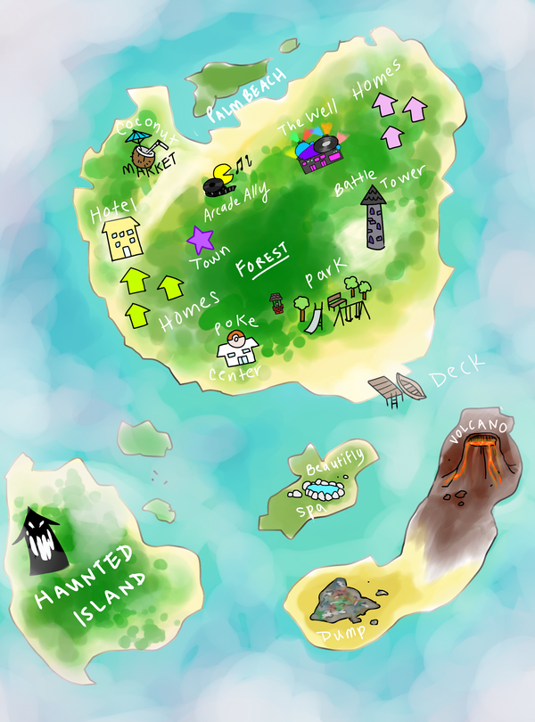 Map of Hibiscus Resort by glutinousRice