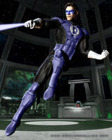 PS practice-Hal Blue Lantern by LonelyImmortal