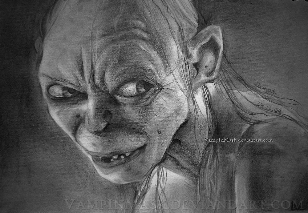 Gollum By Vampinmask On Deviantart