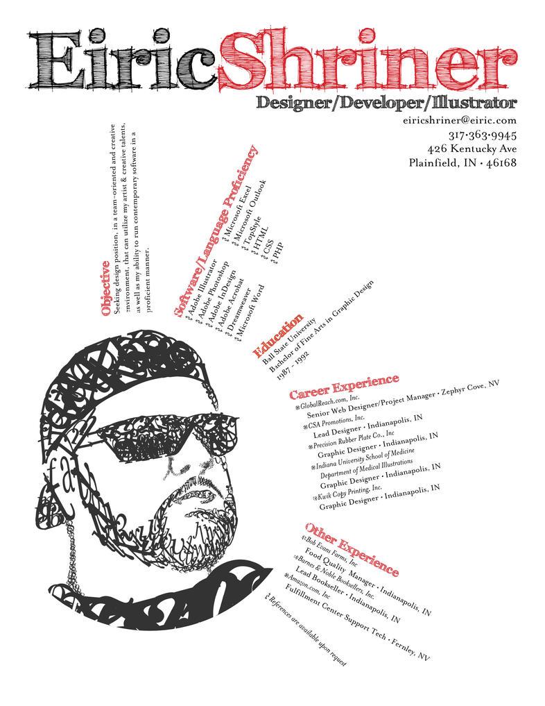 my resume by eshriner on deviantart