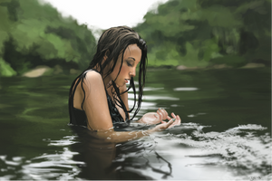 A practise: drawing water by Niquesche