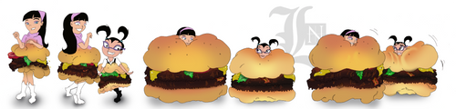 CMSN: Trixie Tang and Tootie Hamburgers Meet by lostnumero