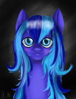 Blue portrait by 11newells