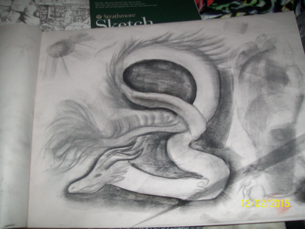 charcoal dragon by 11newells