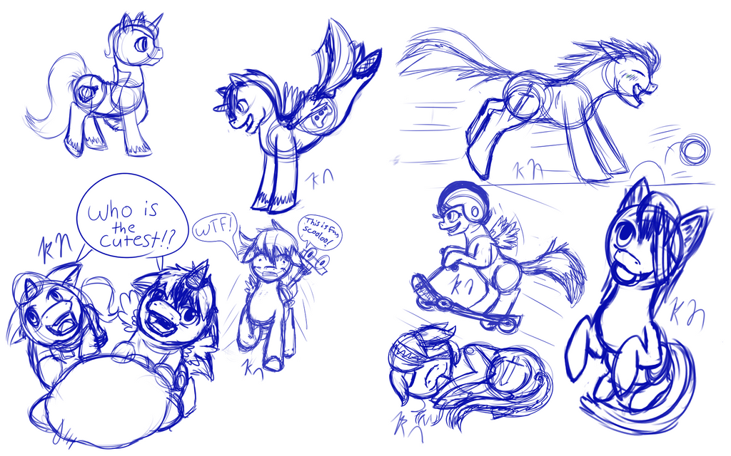 Pony Doodles/style test by 11newells