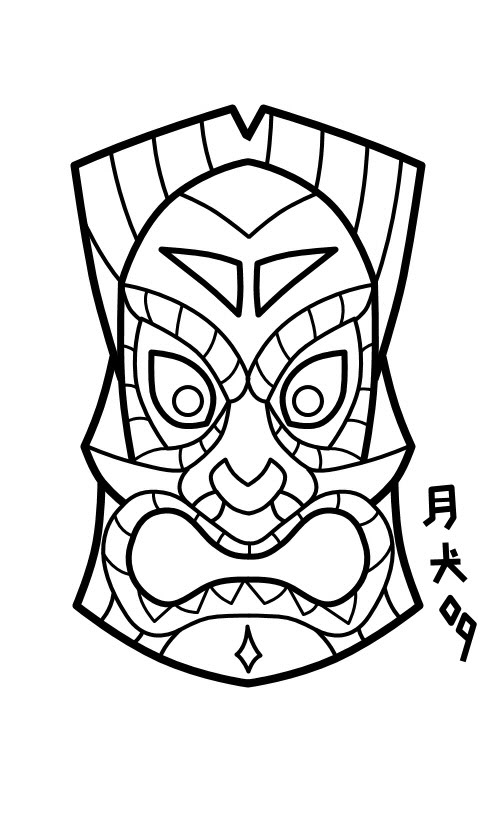 Tiki Mask Design by joshleemooney on DeviantArt
