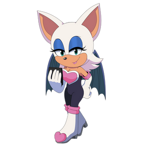 Rouge the bat reads