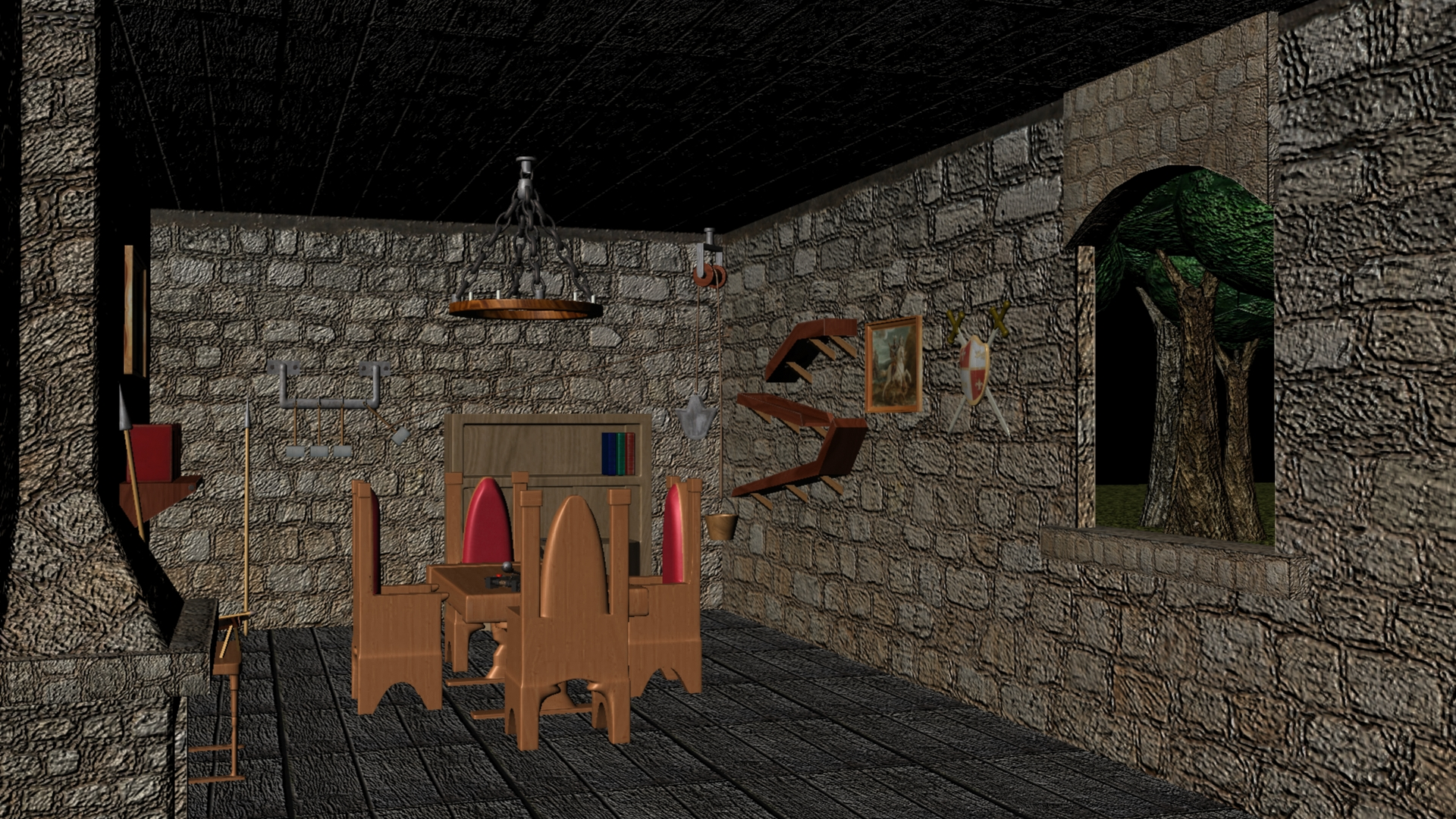 Casa medieval interior by darkeler on deviantart for Casa interior