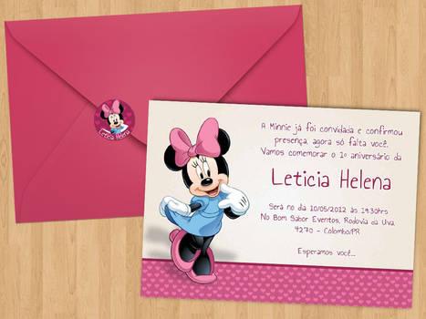 Convite aniversario pink Lele